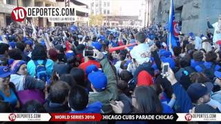 Chicago Cubs World Series downtown parade