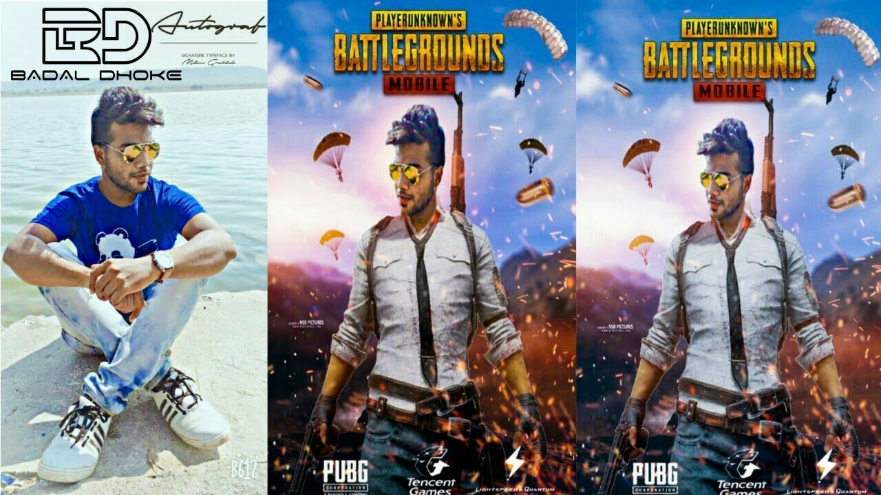 Download thumbnail for PUBG GAME poster - PicsArt Editing tutorial