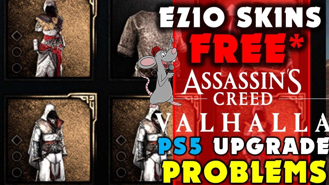 Jade PG - Assassins Creed Valhalla FREE Helix Store HACK! Ezio Leak! PS5 Upgrade Issues Plus Immortals Hype!