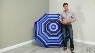 Parasol 6.6 ft. Argentario Blue Beach Umbrella - Product Review Video