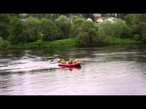 Tayside Fire And Rescue Boat River Tay Perth Perthshire Scotland