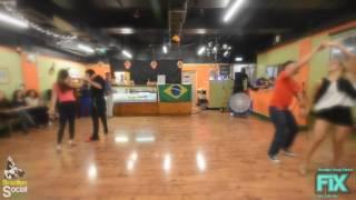 Zouk Brasileiro em Londres   Demo depois da aula  Kleber & Joanna Pedrinho & Linda