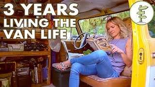 Van Life - Woman Living in a Van for 3 Years to Save Money & Travel the World width=