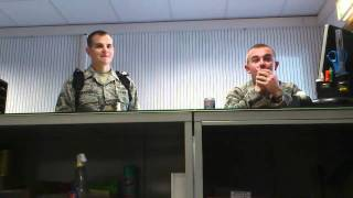 VIDEO - Airman gets pranked and almost cries!
