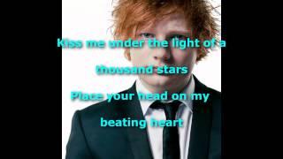 Ed Sheeran / Thinking Out Loud (LYRICS)
