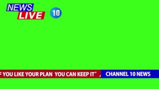 Efeito Jornal - Live News Broadcast Overlay [Fundo Verde - Chroma Key]