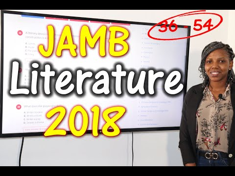 JAMB CBT Literature in English 2018 Past Questions 36 - 54
