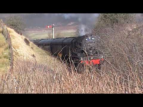 Black 5 pair 44871 & 45407 on GBIII railtour just South of Barrhill, Ayrshire