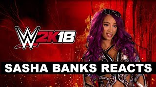 Sasha Banks Reacts to WWE 2K18 Cover Superstar Seth Rollins