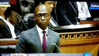 Malusi Gigaba Talking About Cryptocurrencies Budget Speech 2018