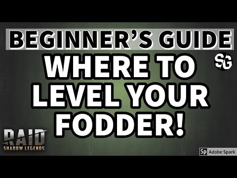 [RAID SHADOW LEGENDS] WHERE TO FARM EXP FOR FODDER