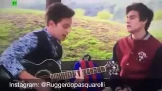 """Soy Luna 2 - Matteo y Gaston Cantan """"Aqui Estoy"""" En El Parque"""