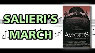 Salieri's March to Mozart [Amadeus] | Piano Sheet Music