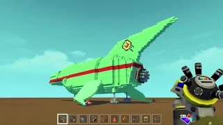 Scrap Mechanic --- Really CooOoOOoL Planet Express Ship I made!