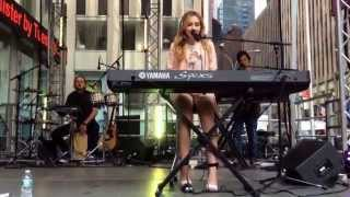 "Sabrina Carpenter playing ""too young"" Live on Fox&Friends What an amazing song absolutely Loved It!"