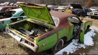 Epic Mopar Junkyard Part 1: Chargers, Superbees, Road Runners oh my.