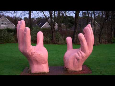 Giant Hands Sculpture Leslie Fife Scotland
