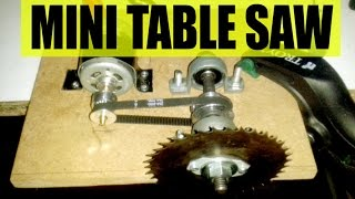 Mini table saw - intro - mini tezgah testere, mini testere
