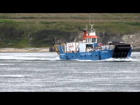 Jura-Islay ferry working very hard in the Sound of Islay tidal race