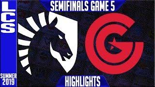 TL vs CG Highlights Game 5 | LCS Summer 2019 Playoffs Semi-finals | Team Liquid vs Clutch Gaming