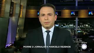 O anúncio da morte de Marcelo Rezende