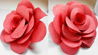 Paper flowers rose diy tutorial easy for children/origami flower folding 3d for kids,for beginners width=