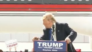 Donald Trump Gets Scared at Rally, Secret Service Rescue Him