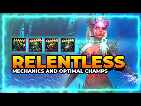 RELENTLESS SET | Mechanics & Optimal Champs! | RAID Shadow Legends
