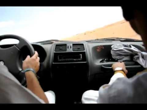 Driving in the Desert Near Merzouga
