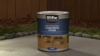 How-To: Apply Behr Premium Semi-Transparent Concrete Stain