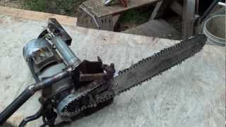 homemade chainsaw with electric drill motor