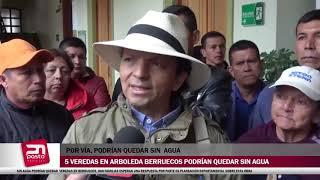 SIN AGUA PODRÍAN QUEDAR VEREDAS EN BERRUECOS 800 FAMILIAS ESPERAN UNA RESPUESTA