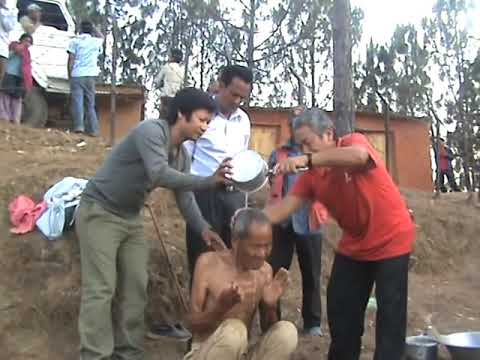 2012 Water Pouring baptism of 84 years old Ratan.mpg