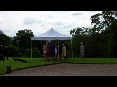 Queen Elizabeth Planting Tree Royal Visit Scone Palace Perth Perthshire Scotland