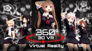 360 3D 4K | MMD Carry Me Off 【VR】 艦これver