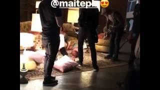 """Maite Perroni & Cali y El Dandee - Grabando de videoclip """"Loca"""" 18/19"""