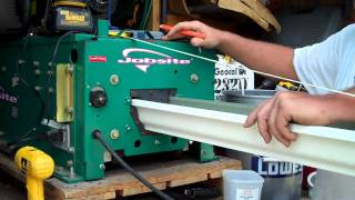 Gutter Machine making new continous gutters for our home