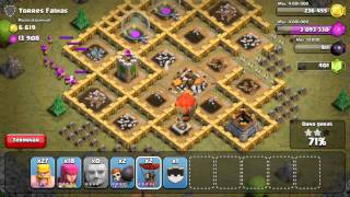 Clash of Clans - level 35 torres falhas