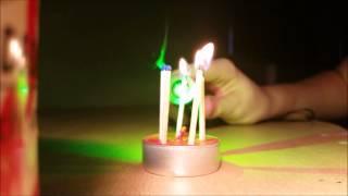 Zöld lézer teszt Brutális égetés!!