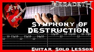 Symphony Of Destruction Guitar Solo Lesson - Megadeth (with tabs)