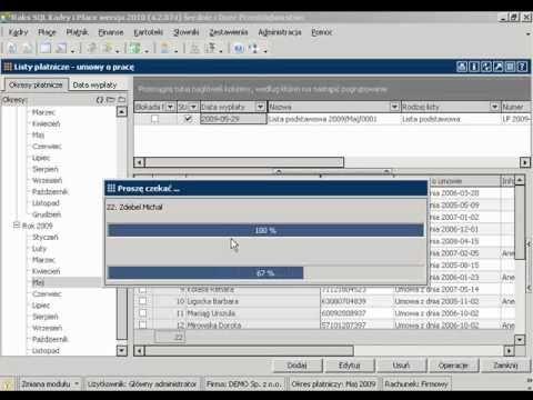 Polecenia przelewów do list płatniczych w programie RAKSSQL