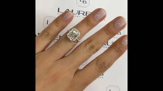 2.50 ct Radiant Cut Diamond Halo Engagement Ring
