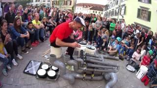 """Techno Street Drummer @ Pvc Instrument  """"El-LOREN""""  St.Gallen 2017."""