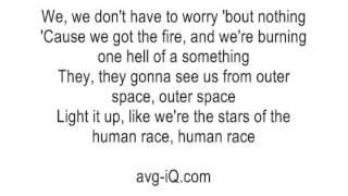 Burn by Ellie Goulding acoustic guitar instrumental cover karaoke with lyrics