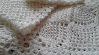 Платье крючком. Прямоугольная пройма. Вывязывание рукава от проймы  // Knitting for Beginners