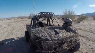Trophy truck mudding on Christmas