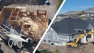 BUILDING A HOUSE! 🏡 (Drone View) - Ellie and Jared width=