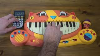 PUMPED UP KICKS ON A CAT PIANO AND A DRUM CALCULATOR