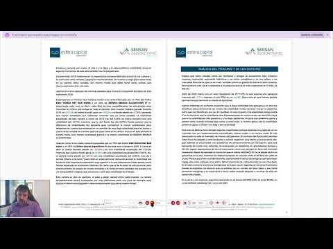 En este vídeo, el gestor del fondo Sersan Algorthmic, Sergi Sánchez, nos presenta el informe del fondo del mes de abril.