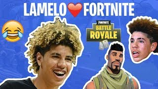 """LaMelo Ball FORTNITE Highlights! """"I'm Coming For That A$$"""" 😂😂"""